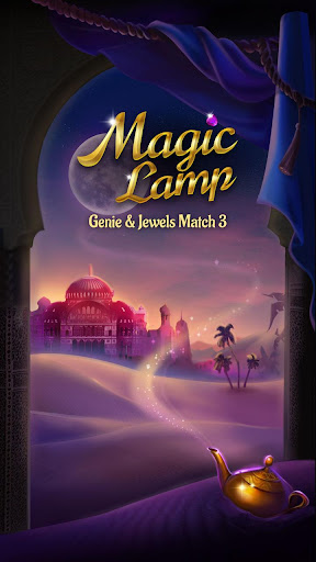 Magic Lamp - Genie & Jewels Match 3 Adventure apkpoly screenshots 1