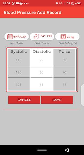 Blood pressure Tracker & bp diary 1.10 Screenshots 3