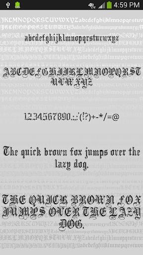 gothic fonts for flipfont screenshot 1