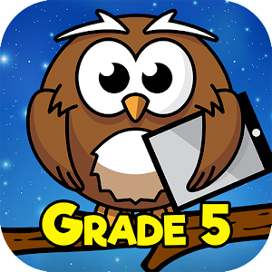 Fifth Grade Learning Games 5.5 by RosiMosi LLC logo