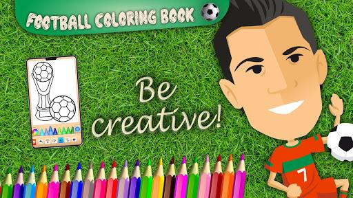 Football coloring book game screenshots 23