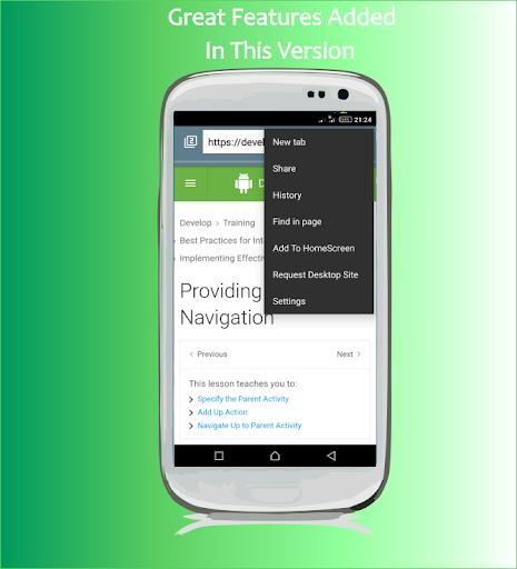 Web Explorer: Fast privacy browser 4.2.7 Screenshots 2