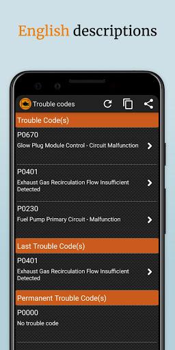 EOBD Facile  OBD2 car diagnostic scanner Bluetooth 3.27.0734 Screenshots 5