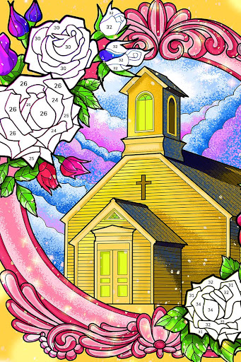 Bible Coloring - Paint by Number, Free Bible Games  screenshots 20