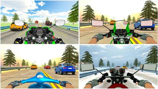 Highway Real Traffic Bike Racer screenshots 3