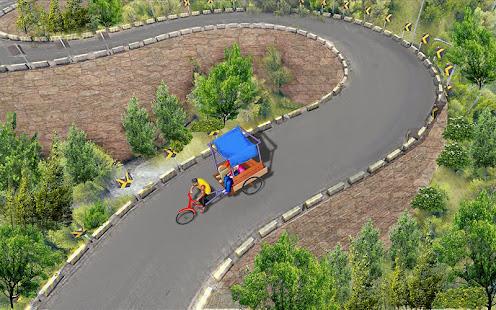 Bicycle Rickshaw Simulator 2019 : Taxi Game 4.0 Screenshots 20