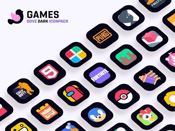 Dove Dark : Icon Pack v1.7
