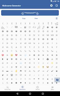 Fancy Text Symbols - Cool fonts nickname generator