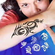Tattoo Design and Name ink Tattoo On Photo