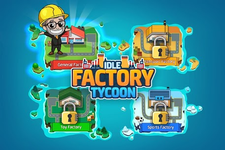 Idle Factory Tycoon: Cash Manager Empire Simulator MOD (Unlimited Coins) 1