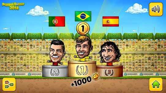 Puppet Soccer 2014 – Big Head Football Mod Apk 3.0.4 (Unlimited Money) 7