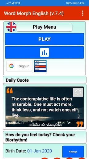 Word morph Game,Anagrams Word Game, a word at time 7.8 screenshots 1