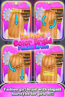 DIY Hairs Makeup Color Braid Fashion Artist