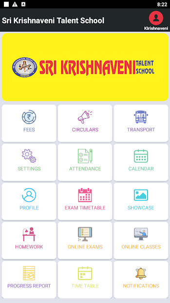 Sri Krishnaveni Talent School Parent App screenshot 3