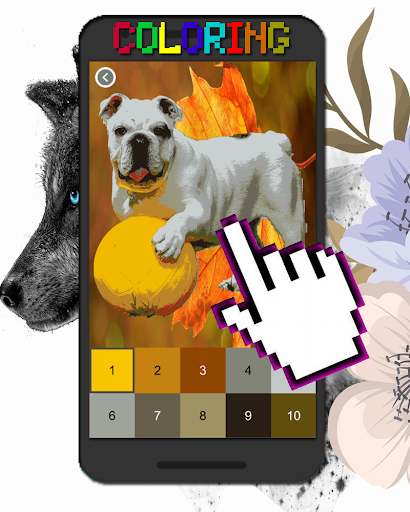 Dog Animal Coloring By Number-Pixel Art  screenshots 4