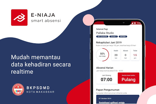 eNiaja Smart Absensi Kota Makassar apktram screenshots 1