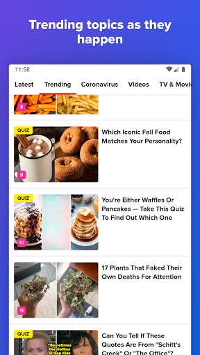 BuzzFeed - Quizzes, Celebrity & Trending News apktram screenshots 4