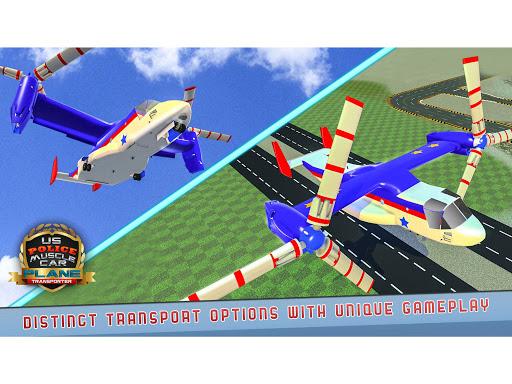 US Police Muscle Car Cargo Plane Flight Simulator 4.7 screenshots 14