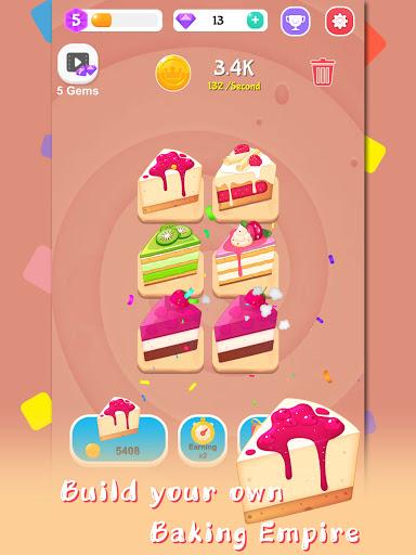 Merge Cake Mania - idle baking tycoon  screenshots 11