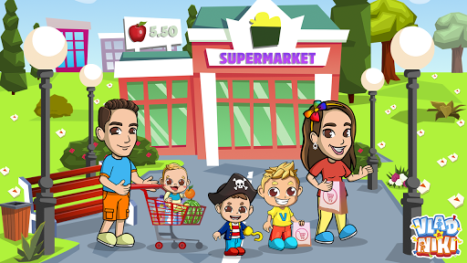 Vlad & Niki Supermarket game for Kids  screenshots 4