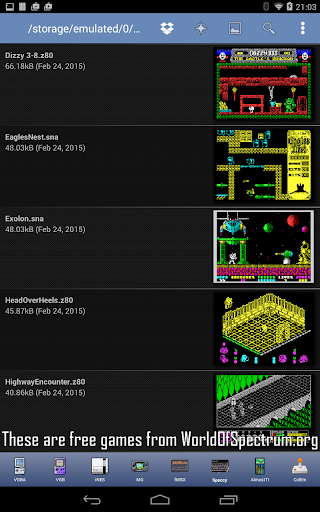 Speccy - Complete Sinclair ZX Spectrum Emulator 5.9 screenshots 18