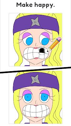 Draw Happy Ninja - Brain free drawing puzzle gamesのおすすめ画像3
