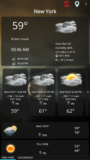 Weather forecast & transparent clock widget  Screenshots 13