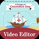 Columbus Day Photo Frame, Video Maker