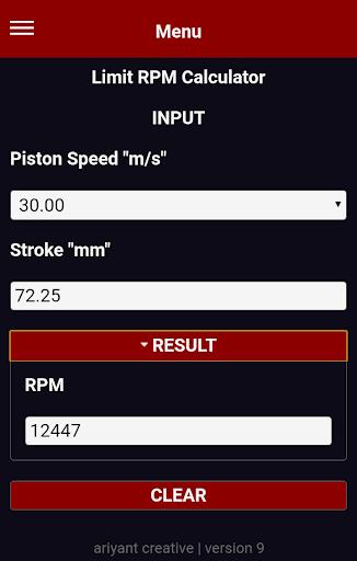 four 4 two 2 stroke engine speed limit calculator screenshot 2