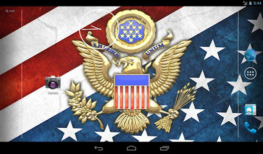 3D USA Coat of Arms & Flag LWP