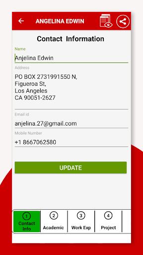 Resume Builder App Free CV Maker & PDF Templates 7.5 Screenshots 17
