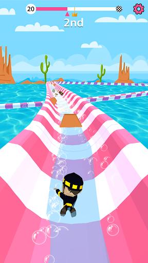 Aqua Path Slide Water Park Race 3D Game  screenshots 1