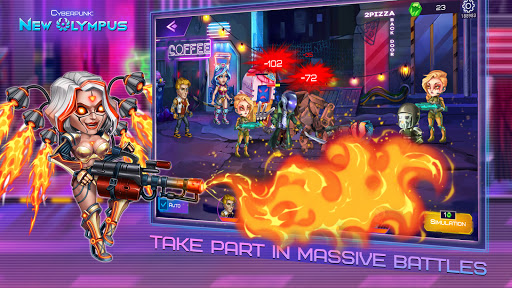 Cyberpunk: New Olympus Idle RPG 5v5 AFK battle apktram screenshots 7
