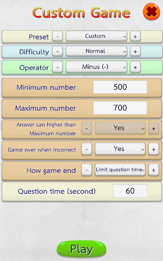 Math Fast Plus and Minus 2.3.1 screenshots 7