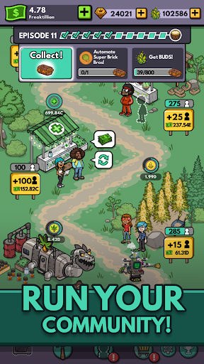 Bud Farm: Idle Tycoon - Build Your Weed Farm apkpoly screenshots 1