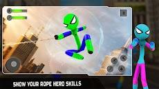 Flying Hero Stickman Rope Hero Grand Crime Cityのおすすめ画像1