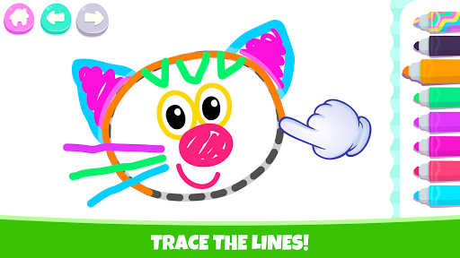 Pets Drawing for Kids and Toddlers games Preschool apkpoly screenshots 2