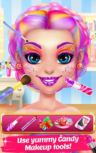 Candy Makeup Beauty Game - Sweet Salon Makeover  screenshots 2