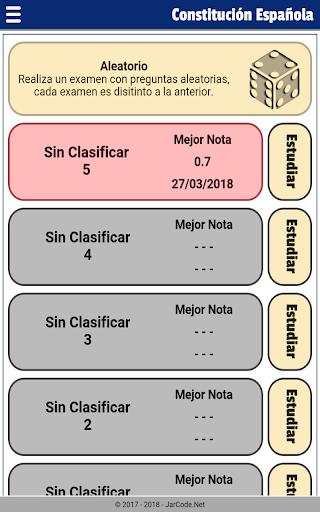 Tests oposiciu00f3n constituciu00f3n Espau00f1ola 20.07.03 screenshots 16