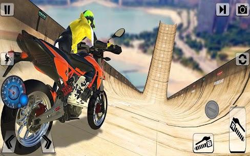 Bisiklet İmkansız Raylar Yarış: Motosiklet Stunts Full Apk İndir 4