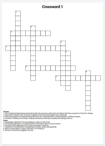 English Crossword Maker 2.0.1 screenshots 3