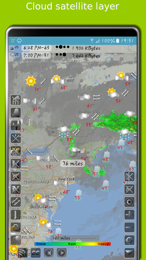 NOAA doppler radar with weather alerts - eMap HDF 2.1.6 Screenshots 2