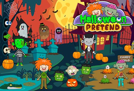My Pretend Halloween - Trick or Treat Town Friends Apkfinish screenshots 1