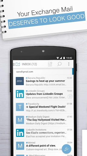 Email Exchange + by MailWise  screenshots 1