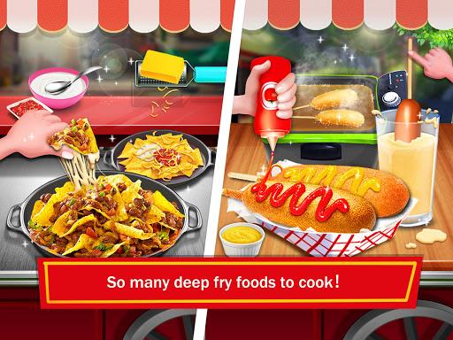 street food: deep fried foods maker cooking games screenshot 3