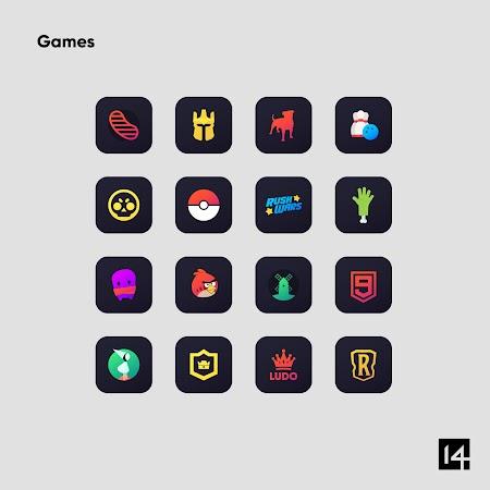 Nova Dark Icon Pack - Rounded Square Shaped Icons v4.9