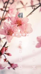 AppLock Live Theme Peach Blossoms – Paid Theme