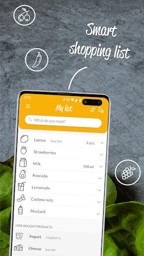 HNGRY - Intelligent shopping list  screenshots 1