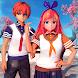 Virtual Anime Yandere Girls High School Life 3D