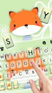 Cute Cartoon Fox Keyboard Theme 1.0 Download APK Mod 2